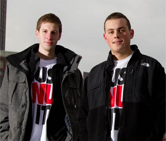 Northeastern U. students Matthew Valich and Charles Svirk