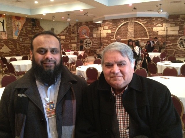 Adil Imdad and Noor Ahmed, supporters of Mayor Francis Slay - SAM LEVIN