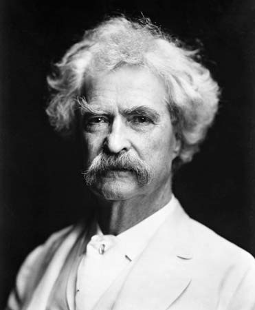 With a mustache like that, you know Mark Twain meant business. - IMAGE VIA