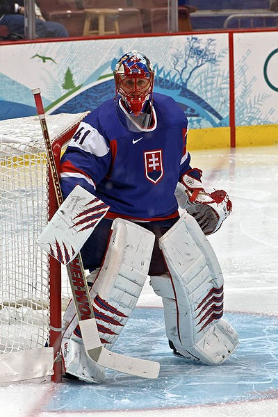 Halak during his time playing for the Slovakian National team in the 2010 Winter Olympics. - COMMONS.WIKIMEDIA.ORG