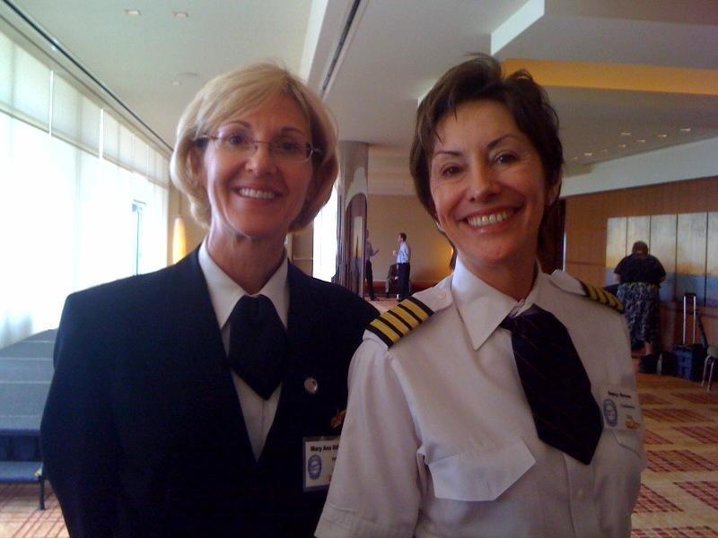 Mary Ana Gilbert (left) and Nancy Novaes.