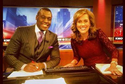 The real KMOV morning hosts, Andre Hepkins and Claire Kellett. - VIA KMOV