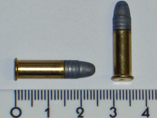 A .22 Long Rifle round. - IMAGE VIA WIKIPEDIA COMMONS