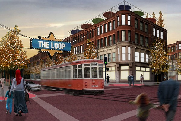 This is what the Loop Trolley should look like when it opens in 2016. - LOOP TROLLEY