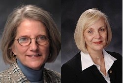 Rep. Susan Carlson (left) and Rep. Stacey Newman (right)