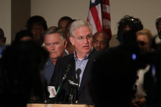 Governor Jay Nixon addressed the press and Ferguson residents on Saturday.