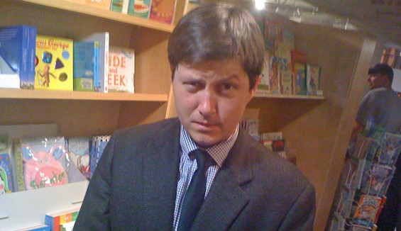 Fast-talker Will Leitch last night at Left Bank Books.