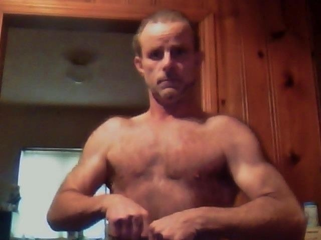Ragen, convicted cat killer, showing off his pecs. - GRIEG RAGEN/FACEBOOK
