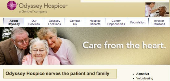 Screenshot of Odyssey Hospice website. - VIA ODSYHEALTH.COM