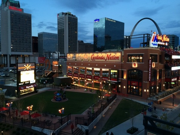 The robbers attacked their victims between Ballpark Village and the Hilton St. Louis at the Ballpark. - LINDSAY TOLER