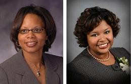 Jamilah Nasheed (left) and Maria Chapelle-Nadal