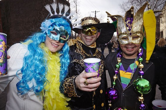 Want to win free tickets to the best tent in St. Louis Mardi Gras? - PHOTOS BY JON GITCHOFF AND STEVE TRUESDELL