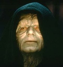 Peter Kinder or Star Wars' evil emperor Palpatine? We're not sure.