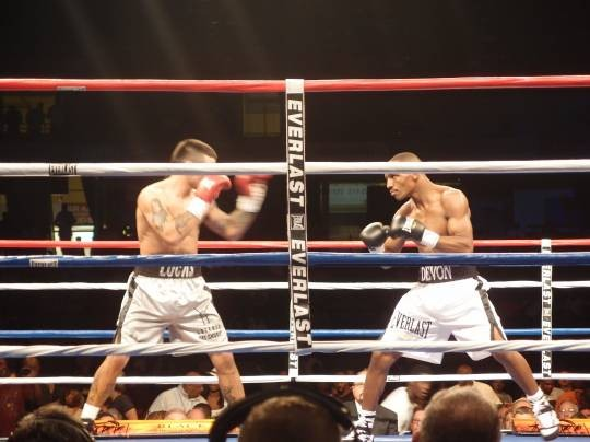 St. Louis' own Devon Alexander showed much heart in a gritty slugfest against Lucas Matthyse. - ALBERT SAMAHA