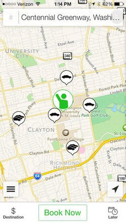 The St. Louis Taxi app.