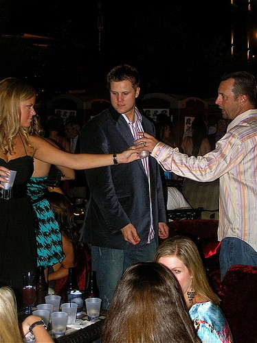 Johnathan Papelbon, center, and Tim Wakefield, right of the Red Sox. Insert your own thought and speech bubbles now.