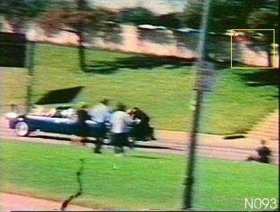 If you look closely you can see Kurt Warner's head right above the wall on the grassy knoll.