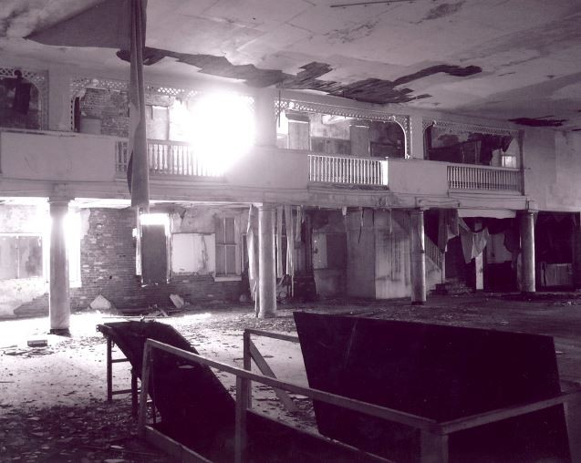 An interior shot of the now-decrepit dance floor within the Castle Ballroom - ALL PHOTOS BY LYNN JOSSE