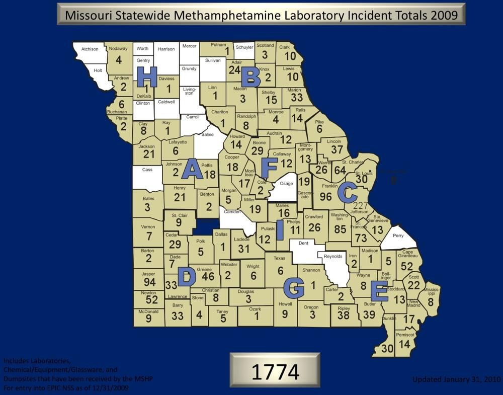 Missouri Poised to Lead Nation in Meth Lab Busts For Fourth