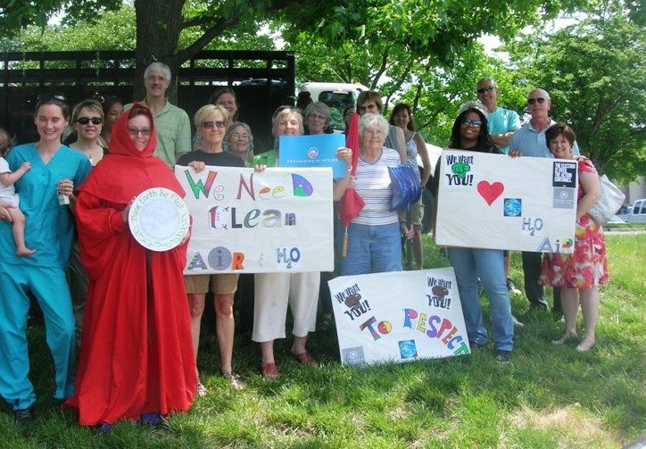 Volunteers with OFA-MO at the rally at Wagner's office in May. - COURTESY OF SIERRA CLUB