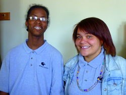 Kenneth Foster and Ashleigh Roseman, members of the first graduating class at Shearwater High School.