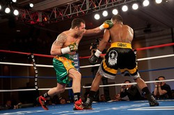 Ryan Coyne was unable to stop Marcus Oliveira in April. - FREDERICK JOHNSON, DON KING PRODUCTIONS