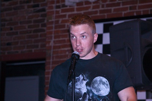 Craig Mayhem performs at the Nuclear Comedy Tweetup last month. - PHOTO BY: BILL STREETER