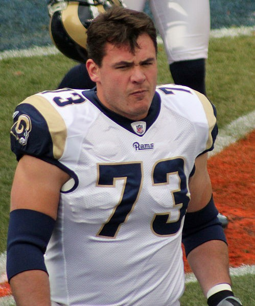 Adam Goldberg has filled in admirably at several spots on the offensive line, but the Rams need to find an upgrade in the middle, where Goldberg was routinely overmatched in 2010. - COMMONS.WIKIMEDIA.ORG