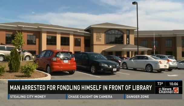 Library parking lot. - VIA KSDK