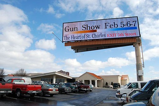 Til next year... A roadside billboard advertises the show in front of the Heart of St. Charles Banquet Hall. - PHOTO: MATT BLICKENSTAFF