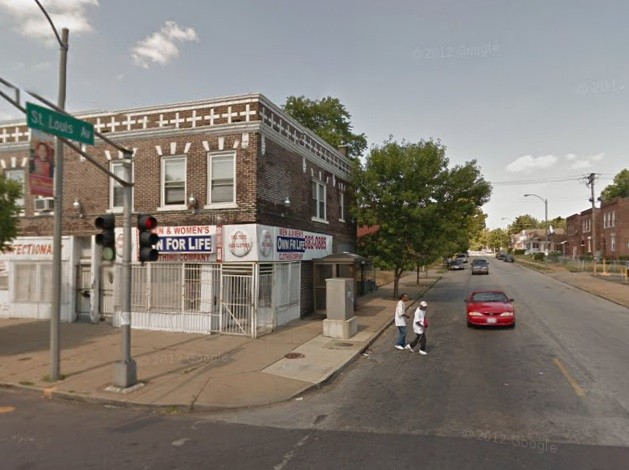 St. Louis Avenue and Union Boulevard where the shooting allegedly took place. - VIA GOOGLE MAPS