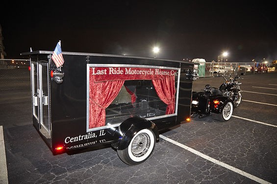 In all its glory, the baddest hearse around. - PHOTO BY STEVE TRUESDELL