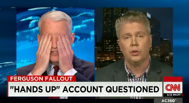 Police union spokesman Jeff Roorda on CNN with Anderson Cooper. - SCREENGRAB