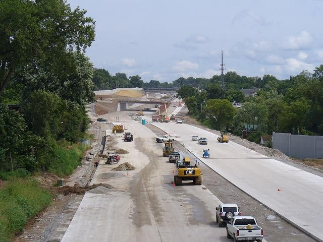 The view Thursday, August 20, from the Boland Place overpass in Richmond Heights.
