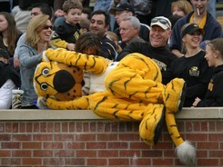 You know, it's surprisingly hard to find a picture of a sporting mascot looking upset.