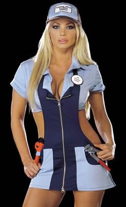 Plumber costumes available online can be used for good or bad. - WWW.YANDY.COM