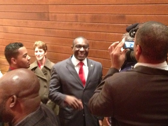 Lewis Reed after a recent debate. - SAM LEVIN
