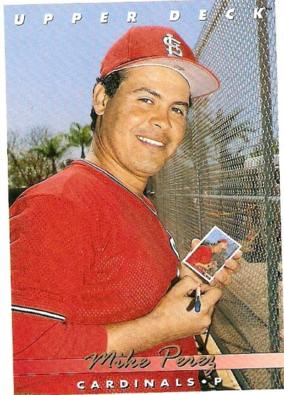 Baseball Card Of The Week Mike Perez Can Bend Time News Blog