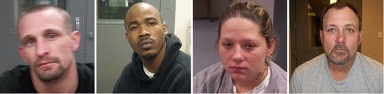 Left to right: Michael Wright; Sean Williams, Tracy Stodgell, Patrick Hallback - VIA RANDOLPH COUNTY SHERIFF'S OFFICE