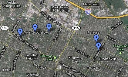 All five shootings occurred within about a mile of each other.