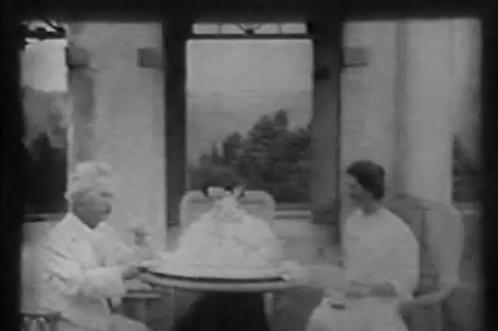 The Clemens family at teatime, 1909. - THOMAS EDISON
