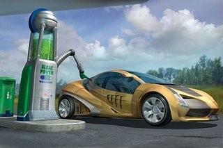 The imaginary algae Ferrari of the future - IMAGE VIA