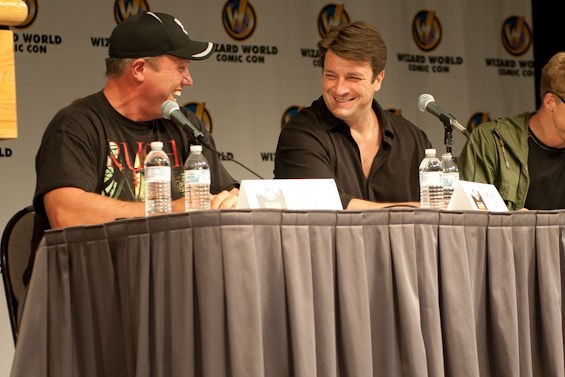 When Adam Baldwin and Nathan Fillion are together, we're in our happy place. - JON GITCHOFF