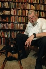Mark Pollman and his Doberman, Harry.