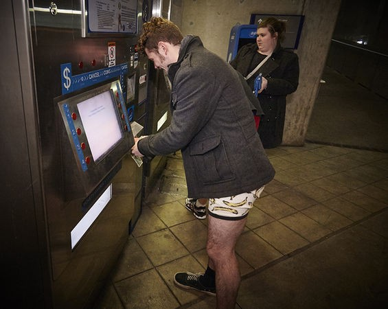 Pantsless people need tickets for the MetroLink, too.