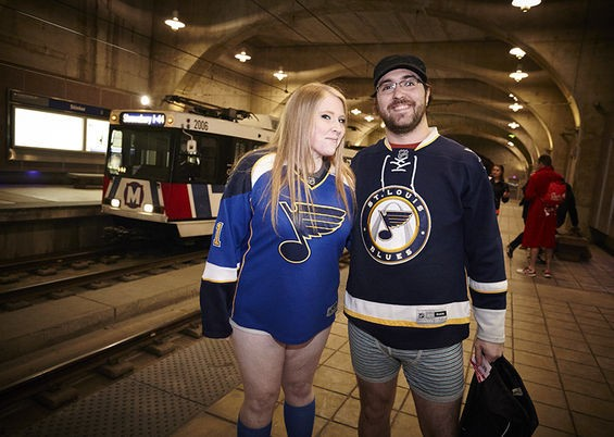 You don't need pants to support the St. Louis Blues.