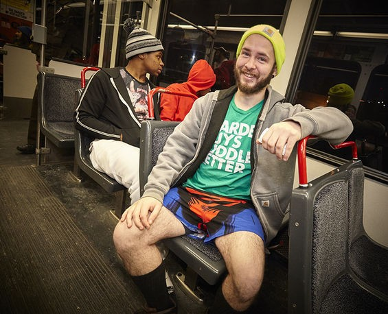 Manspreading is already a problem on public transportation, but it's even worse when guys aren't wearing pants.