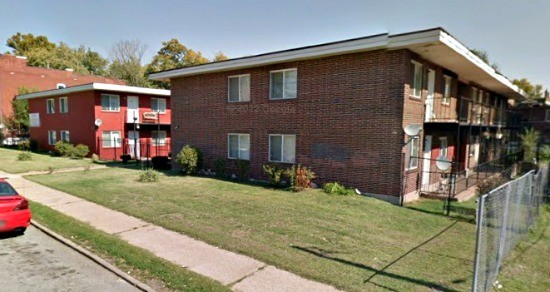 Apartment buildings on the 3900 block of North Florissant. - GOOGLE MAPS
