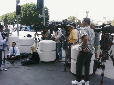 Media Village of the Damned: Press waiting for Lori Drew