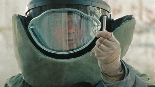 """The Hurt Locker is """"an experiential war movie, but also a psychologically astute one, matching its intricate sensory architecture with an equally detailed map of the modern soldier's psyche,"""" writes Scott Foundas."""